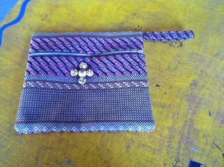 A handmade bag made by the ladies of Girasol